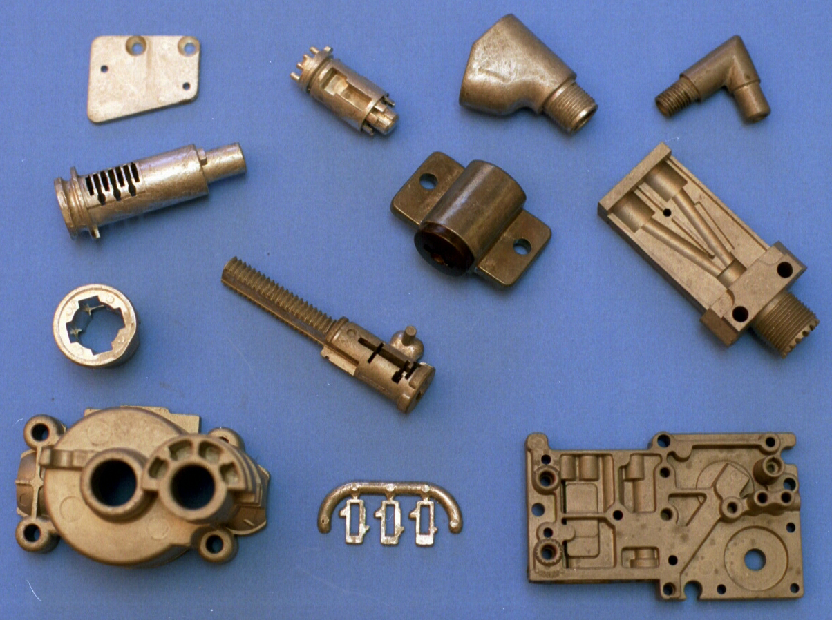 Zinc die castings: Lock plugs and shells, tumbler wafers, air transfer, electrical enclosures
